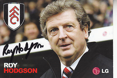 Roy Hodgson Signed Picture