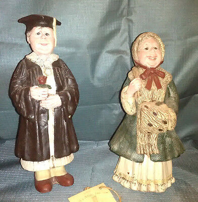 2 Mrs Claus Figurines ~ Sarah's Attic ~ Vintage Stck Made in USA ~From Warehouse