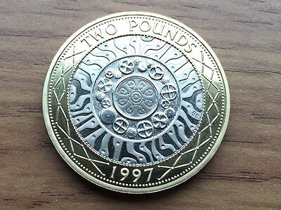 1997 £2 PROOF Coin - Technological Achievement - Royal Mint Two Pound -See Below
