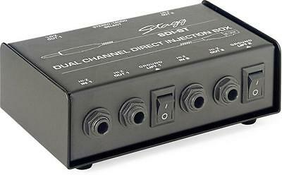 Stagg 2 Channel DI BOX with Mono/Stereo Switch