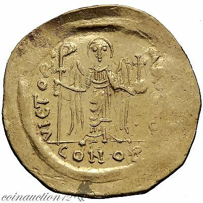 Byzantine Gold Solidus Maurice Tiberius 582-602 Ad Constantinople