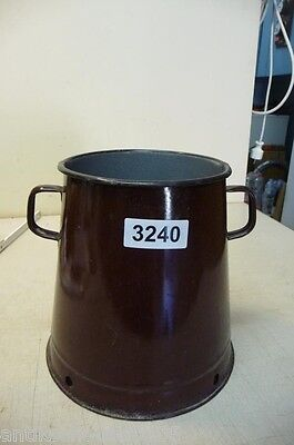3240. Alter Emaille Email Topf old enamelware pot