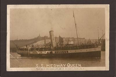 "Paddle Steam Ferry S.S.""Medway Queen"". Medway RP.  1924."