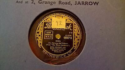 "10"" 78Rpm - Bing Crosby - Baia (Brunswick 03587)"