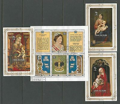 Cook Islands used miniature sheets selection [3 scans]