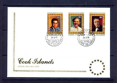Cook Islands 1985 20th Anniv of Self-Government FDC. SG1040-2