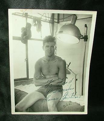 Genuine Signed Autographed Boxing Photograph Maurice Strickland 1937 - Lot 81