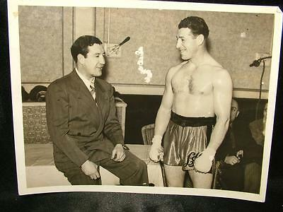 1939 Photo Len Harvey Work Out At Jack Straws Gym Before Larry Gains Fight - L93