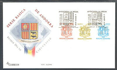 Spanish Andorra FDC Coat of Arms 2004