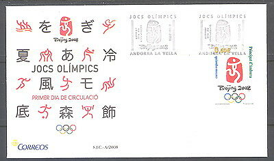 Spanish Andorra FDC Olympic Games Beijing 2008