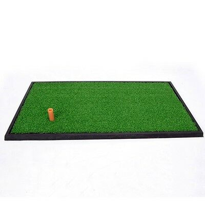New Golf Practice Mat 63*33cm Indoor Hitting Chipping Driving Range Tee Holder