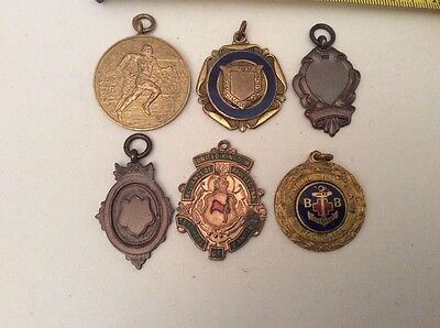 Group Of 6 Old Fobs. Football Etc..