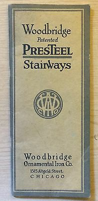 1900's Woodbridge Patented Presteel Stairways Architectural Catalog