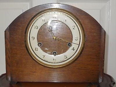 Very Rare Cozens Taunton Westminster Chime Wooden Mantel Clock 1957