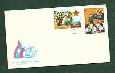 Laos 1989 people's Army stamps on unaddressed FDC