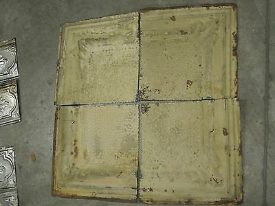 Old Antique ( Metal )  tin ceiling tile  tiles (4) 12X12 corners