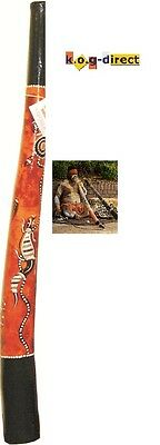 Didgeridoo Hardwood 87Cm Aboriginal Beautifully Hand Painted New Oy