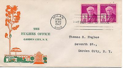 US FDC #945 Edison, The Hughes Office (3748)
