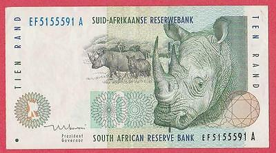 1999 South Africa 10 Rand Note