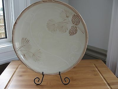 """Wow! Hand painted BERRIES & BOUGHS coldwater creek dinner plate 10.5"""" RARE"""
