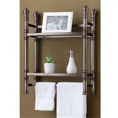 Best Living ME100505-TN Wall mount-Countertop Etagere Brushed Titanium