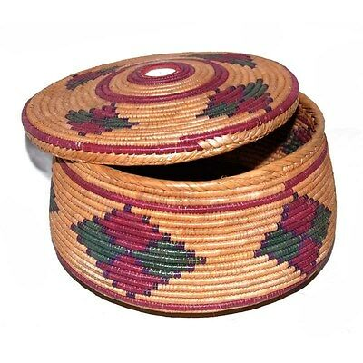 Silkroute BAS2588BB Hand Woven Sewing Basket with Lid