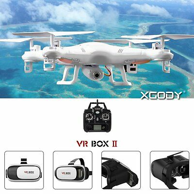Camera drone 6-Axis Gyro Quadcopter With VR BOX 2.0 3D Virtual reality Glasses