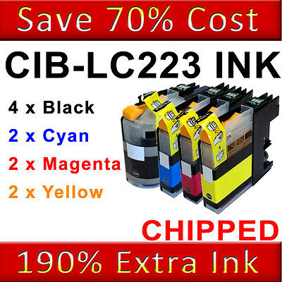 10 Ink Cartridges For Brother LC223 DCP-J562DW MFC-J480DW MFC-J680DW MFC-J880DW