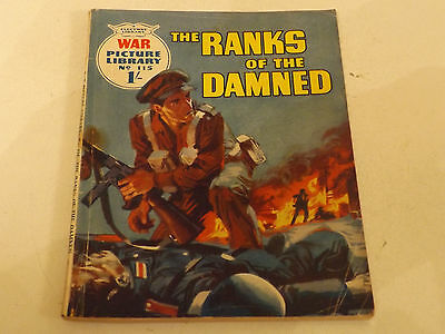 WAR PICTURE LIBRARY NO 115!,dated 1961!,GOOD for age,great 55!YEAR OLD issue.