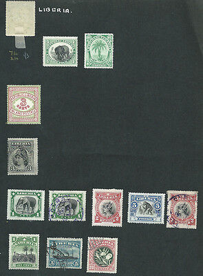 Liberia 26 MH and used old stamps