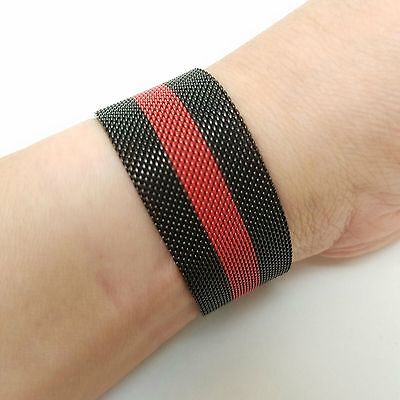 New Black Red Milanese Magnetic Loop Stainless iWatch Band For iWatch 38mm