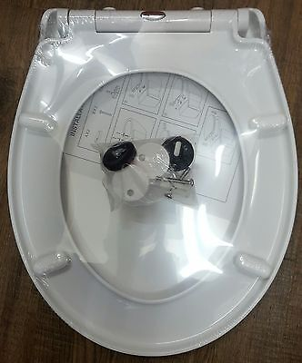 TEAMS Soft Slow Close WC Toilet Seat Quick Release Top Fix Hinges Easy Clean