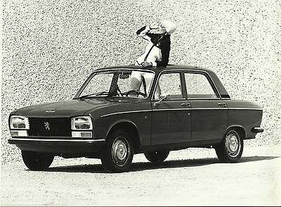 Peugeot 304 Berlina Diesel Girl in 70's Costume Photograph