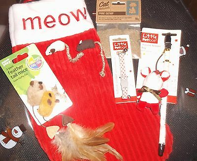 NEW  Kitten/ Cat Christmas Toys collar Stocking / PURFECT cats presents