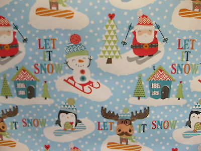 10 Metres Let It Snow Wrapping Paper Gift Wrap Christmas Birthday Rolls