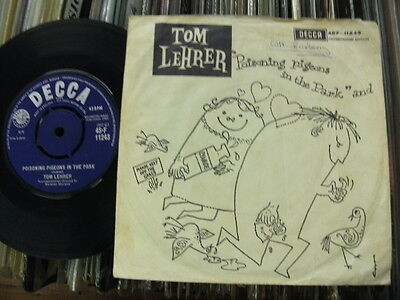 """Tom Lehrer:""""poisoning Pigeons In The Park"""".1960 Decca+Picture Cover.excellent."""