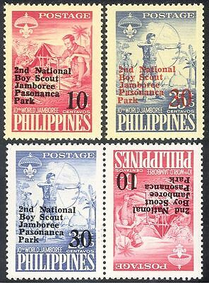 Philippines 1961 Scouts/Scouting/Camp Fire/Jamboree Surcharge 4v set (n28744)