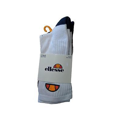 Ellesse Men's Crew Socks (Pack of 2) - Size UK 6-8 (EU 39-42)