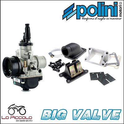 CARBURATORE DELL'ORTO ø 21 + KIT BIG VALVE POLINI ITALJET MBK BOOSTER 50