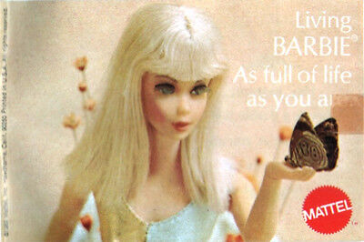 Vintage Catalogue - Barbie Doll - Living Barbie As Full Of Life As You Are 1969