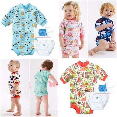 Splash About Happy Nappy Neoprene Baby Wetsuit 2 in 1 Swim ESSENTIALS SET Liners