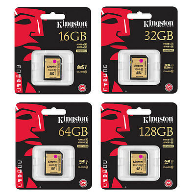 Kingston SDXC UHS-I Ultimate Class 10 Memory Cards - 16GB, 32GB, 64GB & 128GB