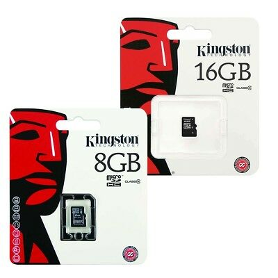 Kingston Micro SD SDHC Memory Card Class 4 - 4GB, 8GB & 16GB`