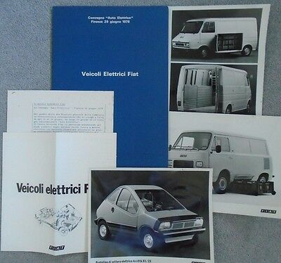 Fiat X1/23 Electric Car Furgone 900T 242 Elettrico Press Pack + Photographs x 3