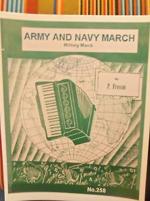 Army & Navy March By Pietro Frosini Accordion Solo Printed Sheet Music