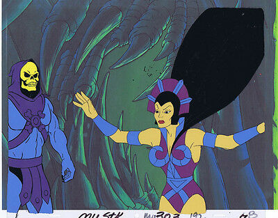 He-Man Masters of the Universe Original Animation Cel & Copy Bkgd #A12641