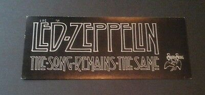 1976 Led Zeppelin Movie Ticket Song Remains The Same New York Premiere Swan Song