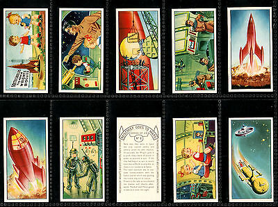 "Wrights 1954 Superb ( Animated Space ) Full 24 Card Set "" Mischief Goes To Mars"