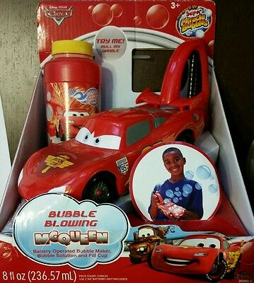 IMPERIAL TOY CARS BUBBLE BLOWING McQUEEN RED STORE RETURN  NEW