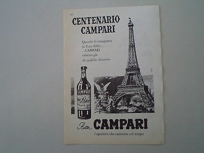 advertising Pubblicità 1960 BITTER CAMPARI